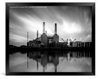Battersea Power Station, Framed Print