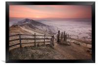 Mellow Mam Tor Sunrise, Framed Print