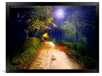 night walk, Framed Print