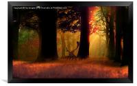 Deer in the forest, Framed Print