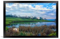 The Pond At Walmersley Golf Club, Framed Print