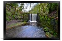 Waterfall in ramsbottom, Framed Print