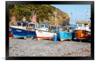 Cadgwith Cove fishing boats , Framed Print