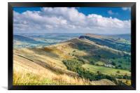 Peak District - The Great Ridge at Castleton, Framed Print