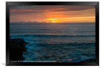 Sunset at Polzeath Cornwall, Framed Print