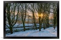 Peak District | Winter trees in Castleton, Framed Print