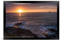 Polzeath Sunset, Framed Print
