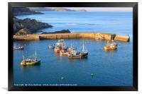 Mevagissey outer harbour, Framed Print