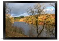 Goyt Valley and Errwood Resevoir at sunset, Framed Print