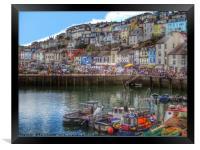 Brixham Harbour Devon, Framed Print