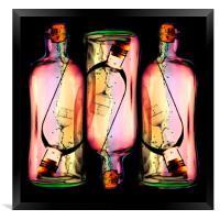 Message In A Bottle, Framed Print