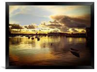 Falmouth docks, Framed Print