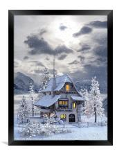 A picturesque Christmas , Framed Print