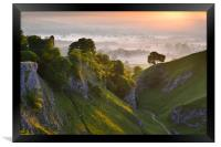 Cave Dale sunrise, Framed Print