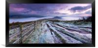 The Great frosty Ridge. , Framed Print