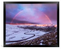 Snowbow over Edale valley, Framed Print