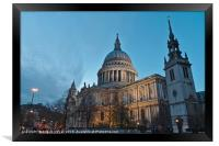 Saint Pauls Cathedral in London, Framed Print