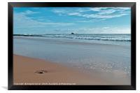 Chiringuitos Beach Low Tide in Albufeira, Framed Print
