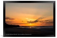 Smiley Face Sunset, Framed Print