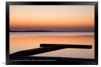 West Kirby Sunset Reflection  , Framed Print