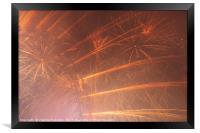 Fireworks Display in London 2017, Framed Print