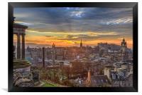 Edinburgh Skyline from Calton Hill, Framed Print