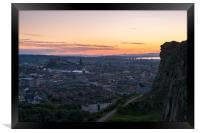 Twilight from the Salisbury Crags, Edinburgh, Framed Print
