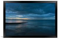 Last light over Portobello beach, Edinburgh, Framed Print