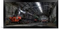 Tanfield Trains, Framed Print