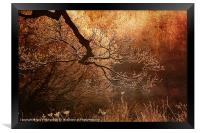 Frost Covered Branch, Framed Print