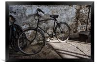 Vintage Bicycle at Tanfield, Framed Print