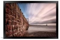 Roker Pier at Sunderland, Framed Print