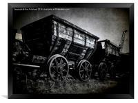 Vintage Coal Wagons, Framed Print