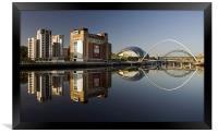 Gateshead Riverside, Framed Print