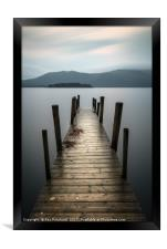 Hawes End Jetty, Framed Print