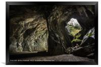 Cathedral Cavern , Framed Print
