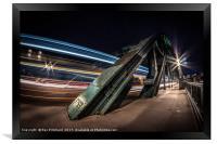 Bus Trails on the Tyne Bridge, Framed Print