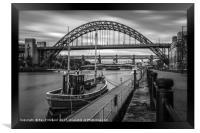 Boat on the River Tyne, Framed Print