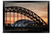 Tyne Bridge Sunrise, Framed Print