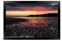 South Shields Beach at Sunrise, Framed Print