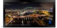Tyne Bridge Panorama , Framed Print