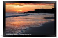 Sandhaven beach, Framed Print