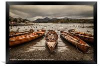 Derwent Water Boats, Framed Print