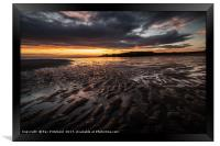 sunrise over South Shields Beach, Framed Print