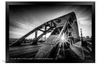 Sun and the Tyne Bridge, Framed Print