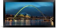 Green Millennium Bridge, Framed Print