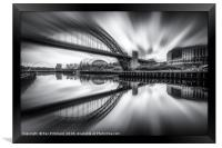 Zoomed Tyne Bridge, Framed Print