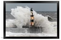 Big Waves at Seaham, Framed Print