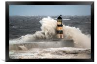 High Seas at Seaham, Framed Print