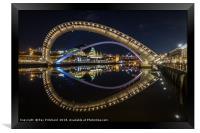 Millennium Bridge Tilted, Framed Print